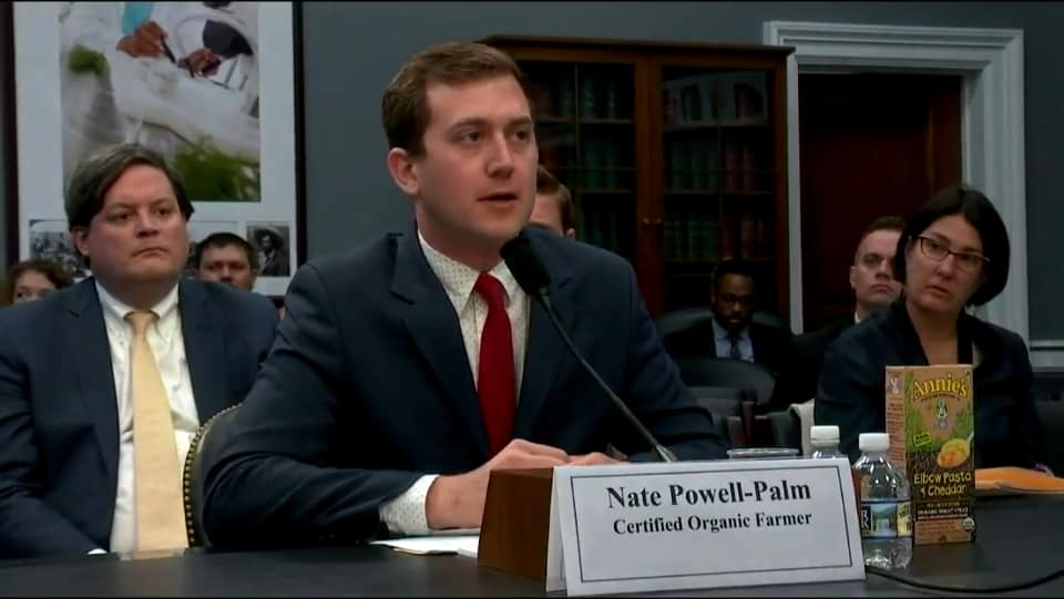 MOA member Nate Powell-Palm testifies before the US House Appropriations Agriculture, Rural Development, FDA, and related agency subcommittees.