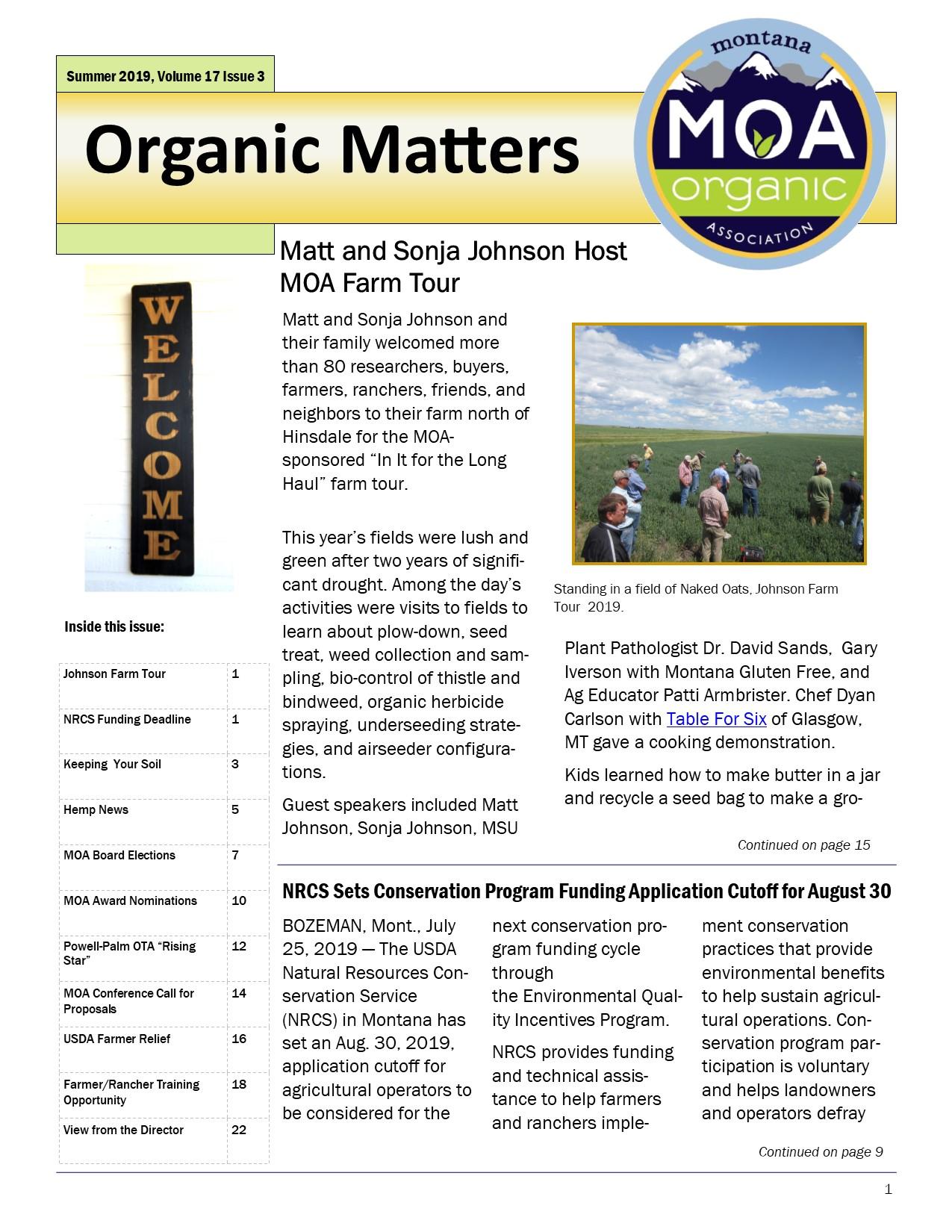 Organic Matters Summer 2019