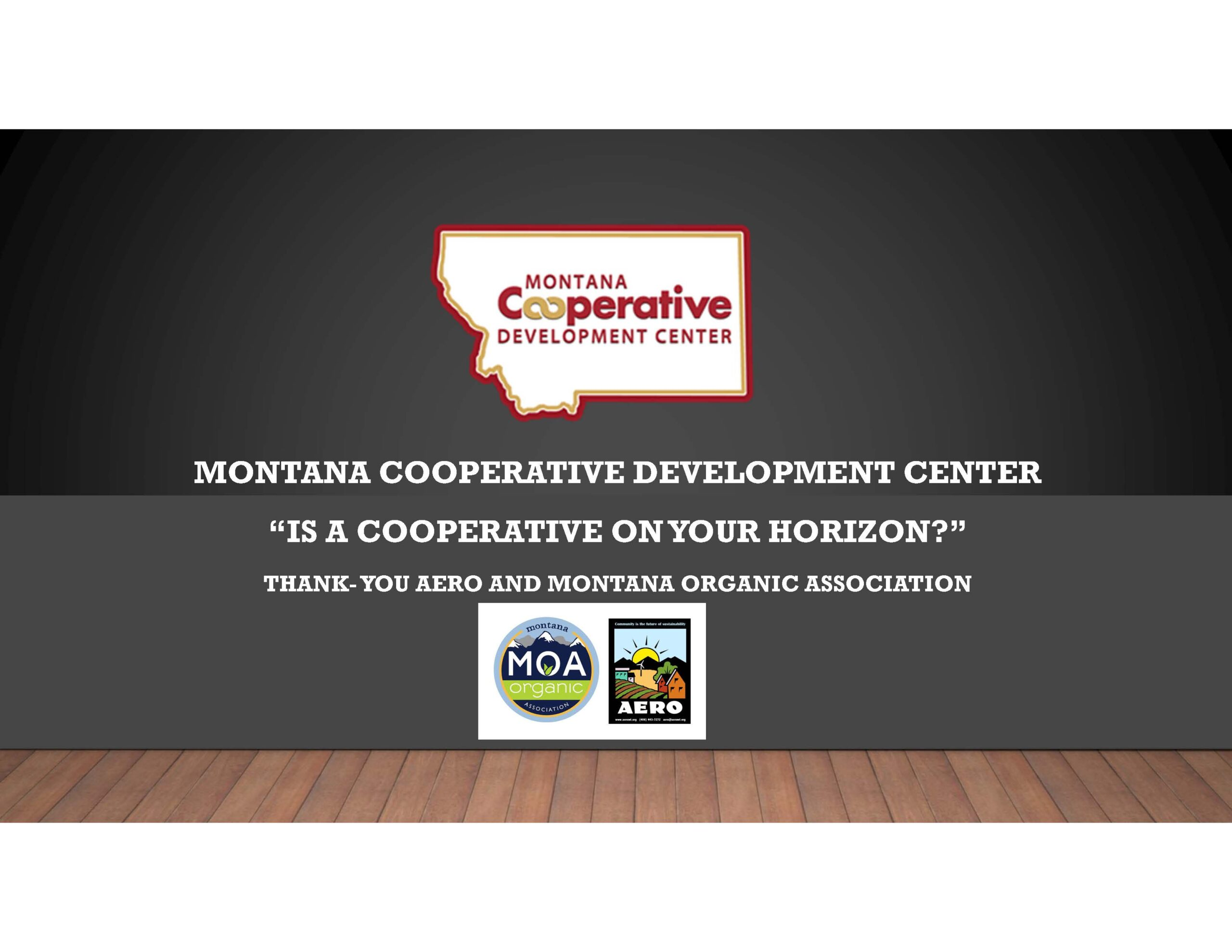 MCDC - Is A Cooperative on Your Horizon