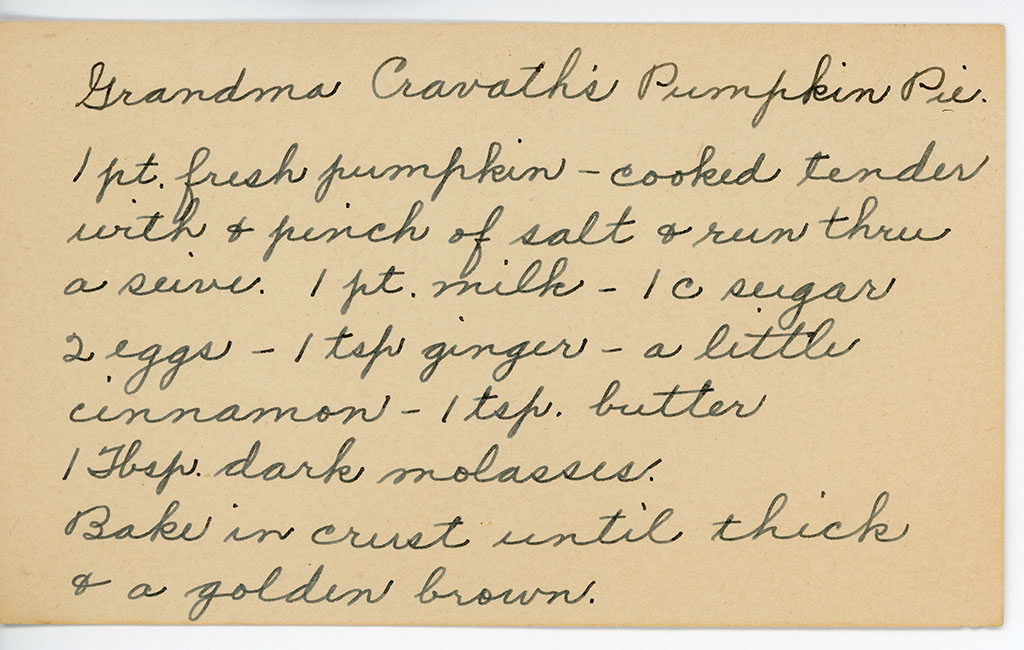 pumpkin pie recipe