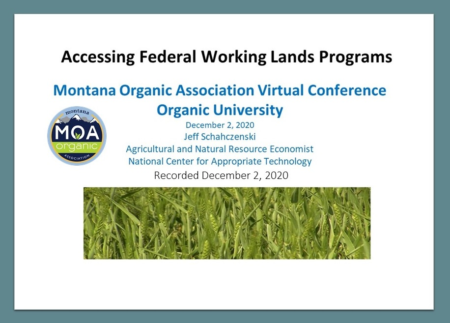 federal working lands